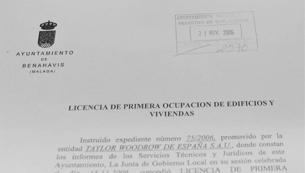 Licencia de primera ocupación